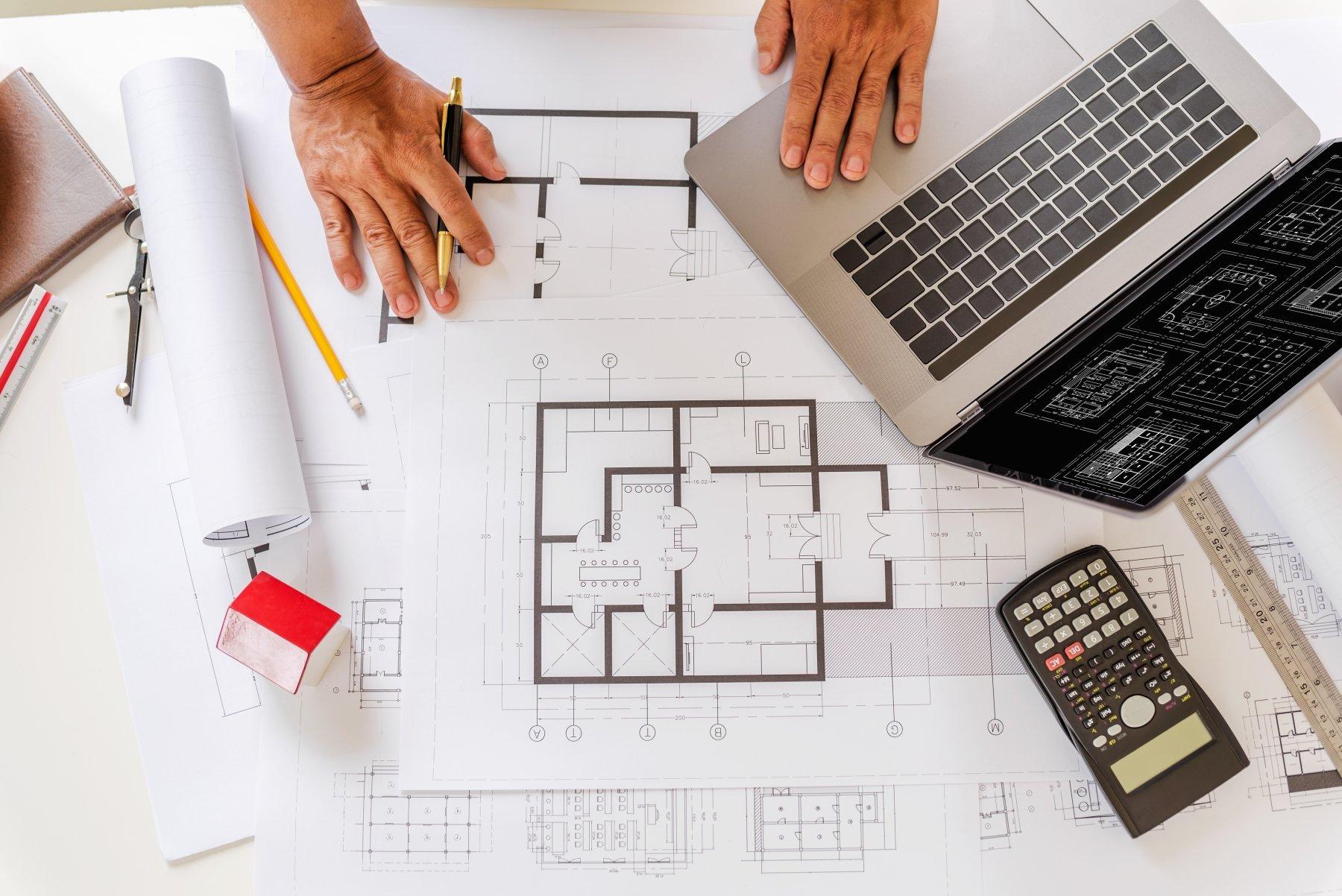 Blueprints for a custom built residential home