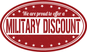 we are proud to offer a military discount